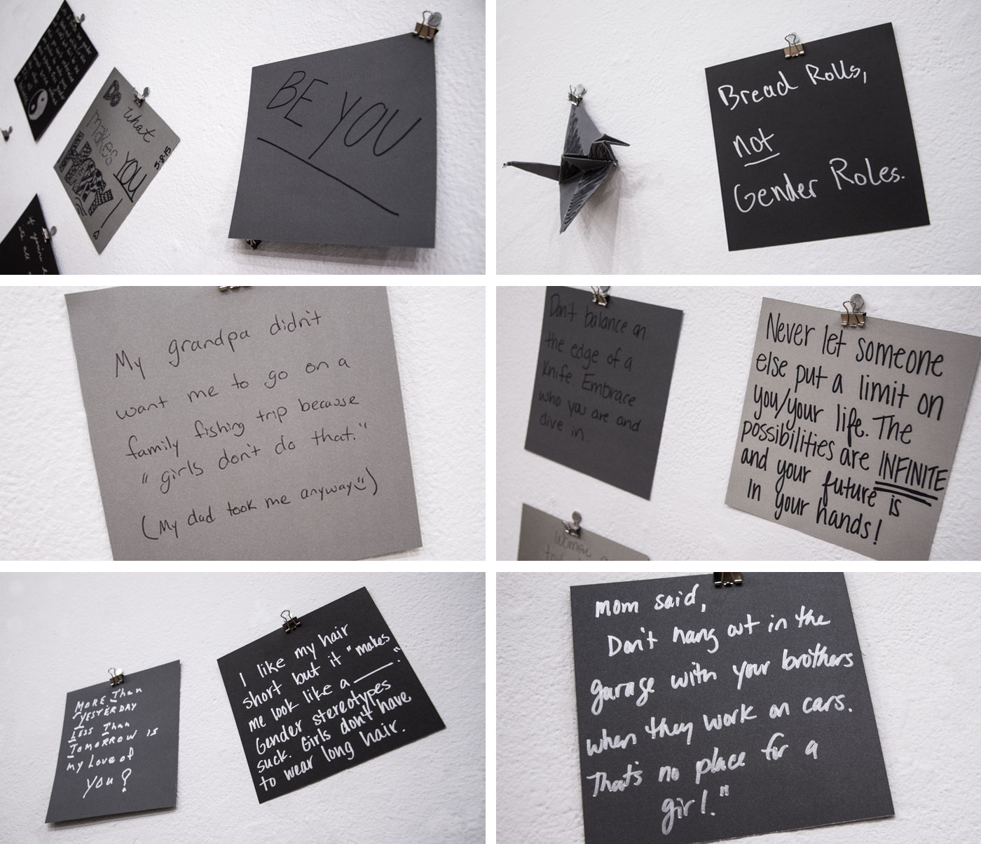 Lose the Labels Social Campaign Gallery Installation by Chelsea Studensk