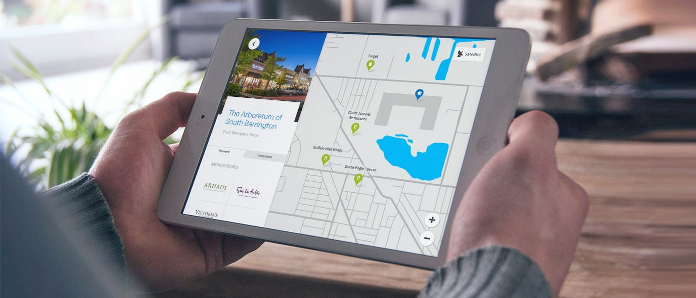 Retail mapping tool on iPad